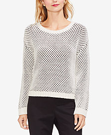 Vince Camuto Textured-Stitch Sweater