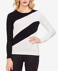 Vince Camuto Asymmetrical Colorblocked Sweater