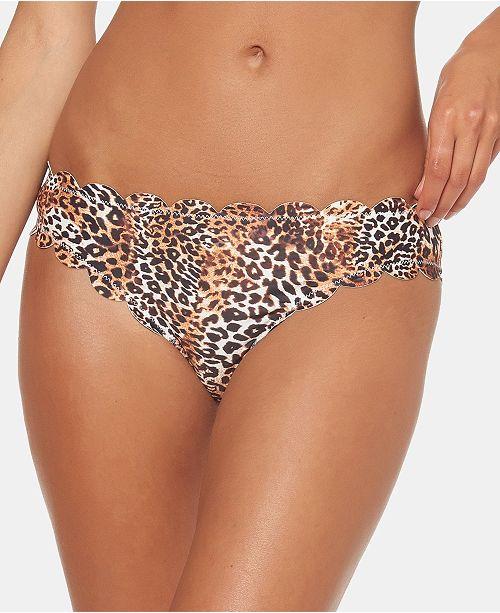 Jessica Simpson Scalloped-Edge Hipster Bikini Bottoms