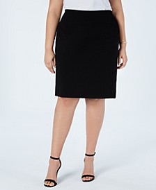 Plus Size Pull-On Pencil Skirt