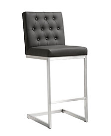 Helsinki Black Steel Counter Stool