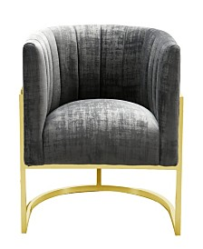 Magnolia Grey Chair with Gold Base
