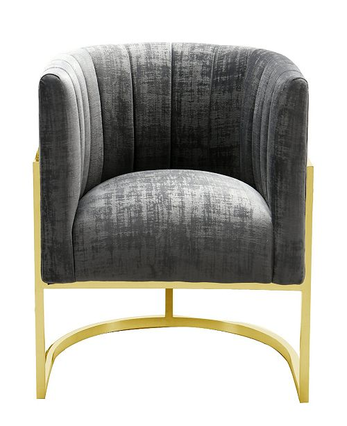 Tov Furniture Magnolia Grey Chair With Gold Base Reviews