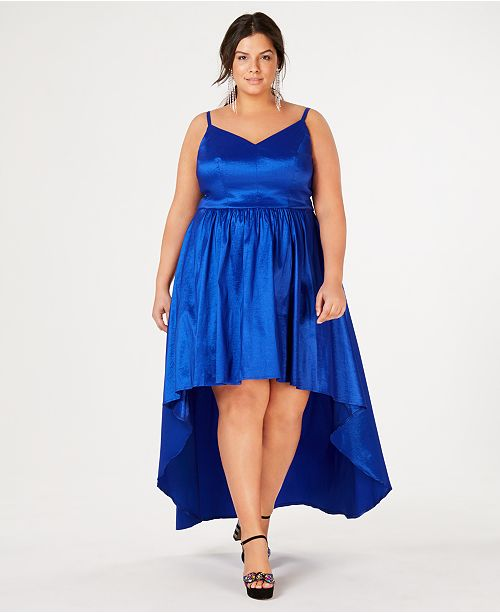 485093cb971 B Darlin Trendy Plus Size High-Low Dress   Reviews - Trendy Plus ...