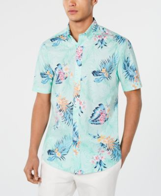 Image of Club Room Men's Graphic Shirt, Created for Macy's