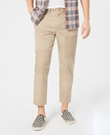 American Rag Men's Moto Cropped Chinos, Created for Macy's