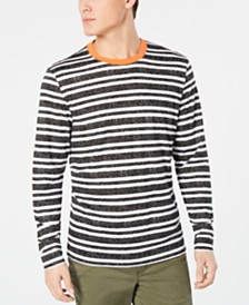 American Rag Men's Long Sleeved Striped Ringer Tee, Created for Macy's