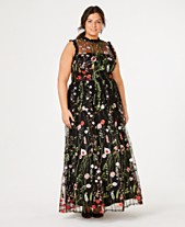 71359e8fd24 City Studios Trendy Plus Size Ruffle-Trim Embroidered Gown