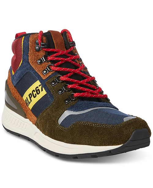 c521f1682ddc Polo Ralph Lauren Men s Train 100 High-Top Sneakers   Reviews - All ...