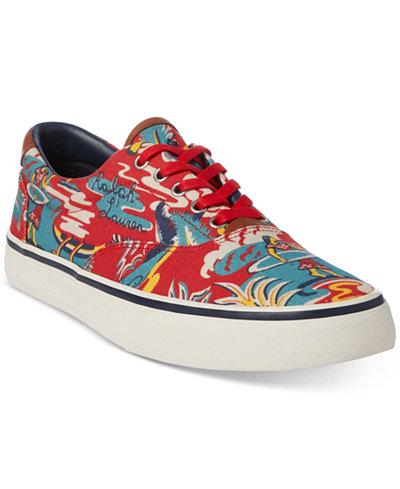 Polo Ralph Lauren Men's Floral Thompson Sneakers