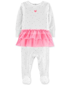 Carter's Baby Girls Printed Tutu Coverall