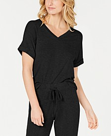 Ultra Soft Ribbed Knit Pajama Top, Created for Macy's