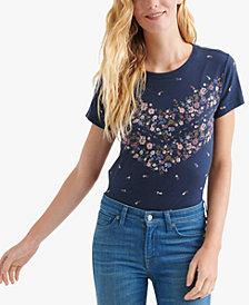 Lucky Brand Floral-Print T-Shirt