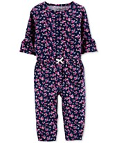 0b153a2b6b Carter s Baby Girls Floral-Print Cotton Coverall