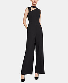 BCBGMAXAZRIA Cutout Mock-Neck Jumpsuit