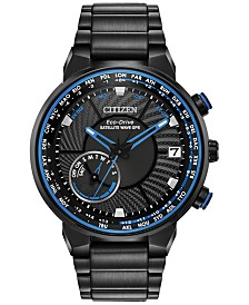 Citizen Eco-Drive Men's Satellite Wave GPS Black-Tone Stainless Steel Bracelet Watch 44mm