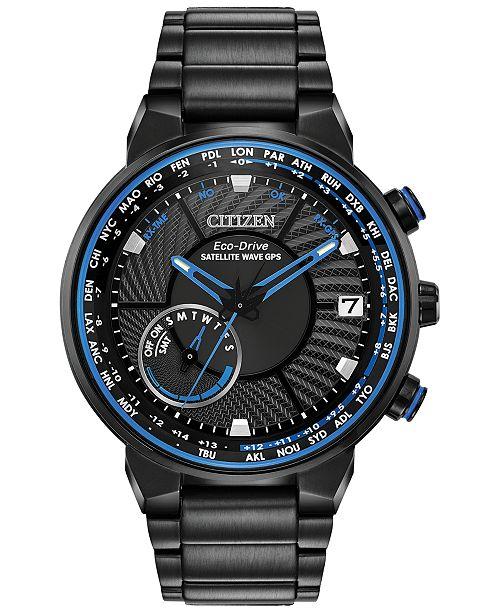 718e4c40fd2 ... Citizen Eco-Drive Men s Satellite Wave GPS Black-Tone Stainless Steel  Bracelet Watch ...