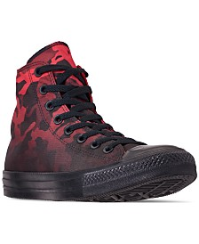 91099a3e43f Converse Men s Chuck Taylor All Star Gradient Camo High Top Casual Sneakers  from Finish Line