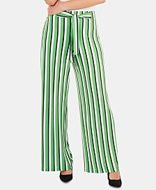 NY Collection Striped Wide-Leg Pants