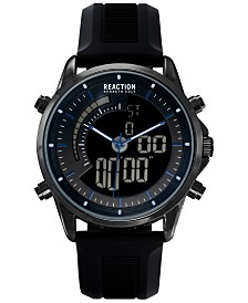 Kenneth Cole Reaction Men's Analog-Digital Black Silicone Strap Watch 42mm