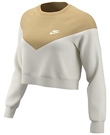 Nike Plus Size Sportswear Heritage Cropped Fleece Sweatshirt