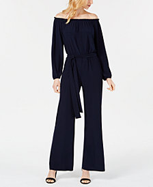 Nine West Off-The-Shoulder Jumpsuit