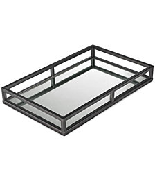Hotel Collection Gunmetal Mirror Tray, Created for Macy's