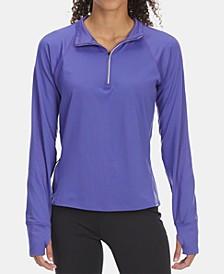 EMS® Women's Techwick Athletic-Fit Performance Stretch Moisture-Wicking Transition 1/2-Zip Sweatshirt