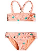 76cc7be747bd1 Roxy Little Girls 2-Pc. Bandeau Bikini