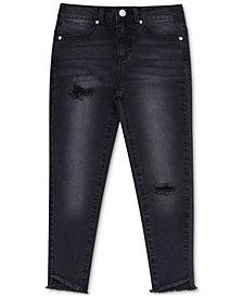 Calvin Klein Big Girls Angled-Hem Capri Skinny Jeans