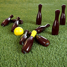 Lawn Bowling Game, English Skittles Set By Hey Play