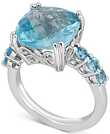 Blue Topaz Ring (6 ct. t.w.) in Sterling Silver