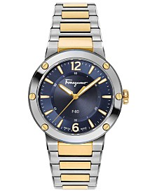 Ferragamo Women's Swiss F-80 Two-Tone Stainless Steel Bracelet Watch 34mm