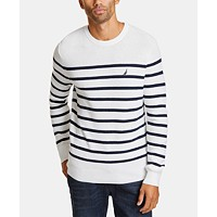 Nautica Mens Breton Striped Sweater