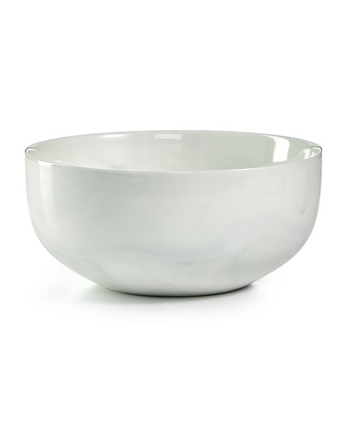 Hotel Collection Modern Marble Cereal Bowl, Created for Macy's