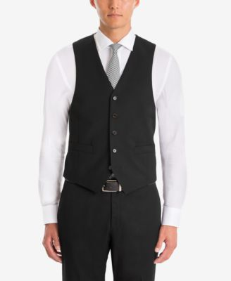 Men's UltraFlex Classic-Fit Black Wool Vest