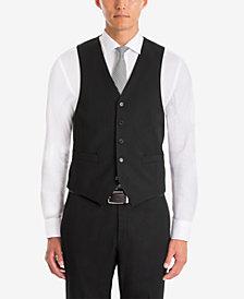 Lauren Ralph Lauren Men's UltraFlex Classic-Fit Black Wool Vest
