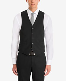 Lauren Ralph Lauren Men's UltraFlex Classic-Fit Black Wool Vest