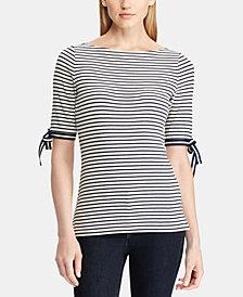 Ralph Lauren Petite Striped Top