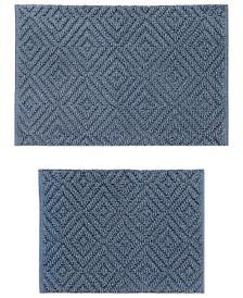 Tempest Cotton 2-Pc. Denim Blue Bath Rug Set