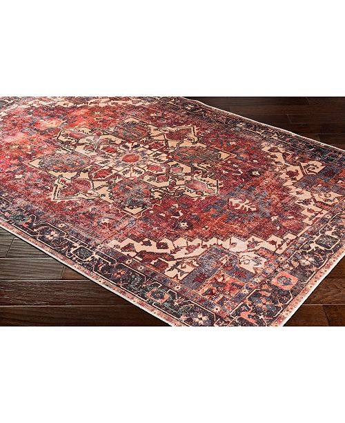 "Surya Amelie AML-2308 Rust 18"" Square Swatch"