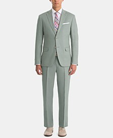 Men's UltraFlex Classic-Fit Sage Linen Suit Separates