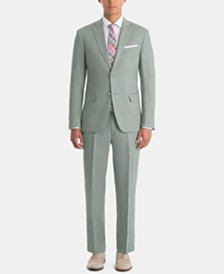 Lauren Ralph Lauren Men's UltraFlex Classic-Fit Sage Linen Suit Separates