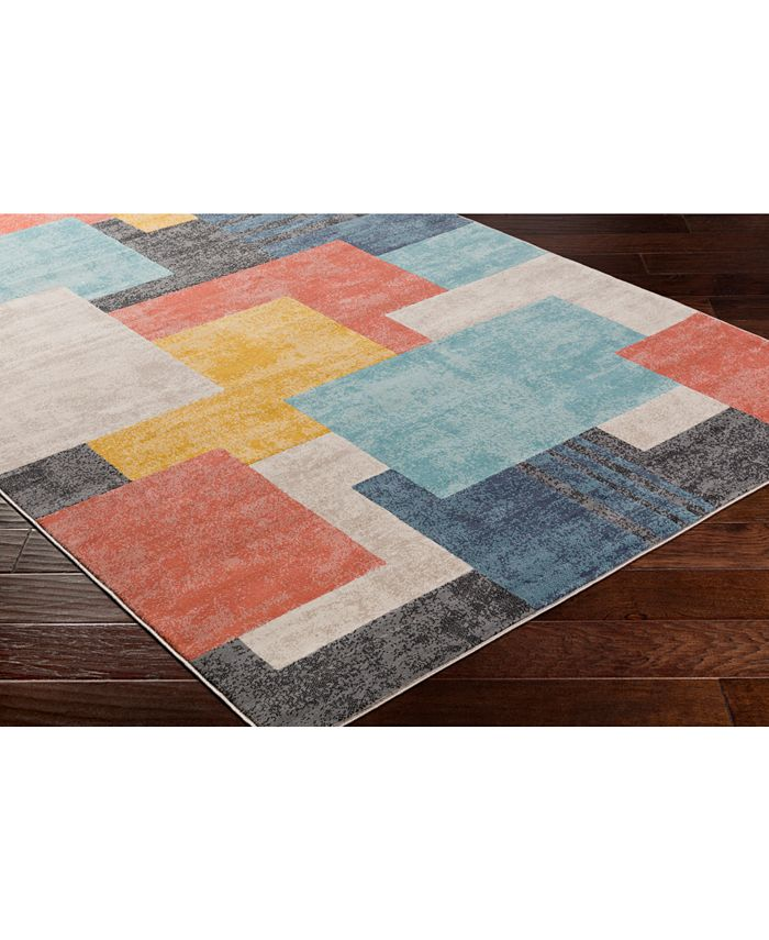 """Abbie & Allie Rugs - City CIT-2342 Coral 18"""" Square Swatch"""