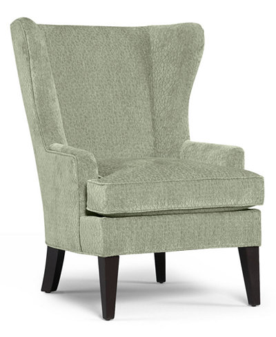 Martha Stewart Collection Saybridge Fabric Living Room Accent Wing Chair:  Custom Colors - Martha Stewart Collection Saybridge Fabric Living Room Accent Wing