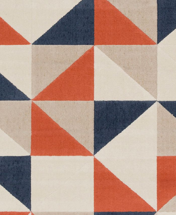 """Abbie & Allie Rugs - City CIT-2314 Coral 18"""" Square Swatch"""