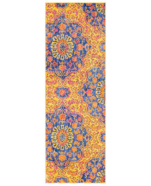 "Surya Elaziz ELZ-2318 Bright Orange 2'7"" x 7'6"" Runner Area Rug"