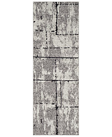 "Surya Elaziz ELZ-2325 Medium Gray 2'7"" x 7'6"" Runner Area Rug"