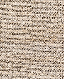 "Haraz Jute HRA-1001 Taupe 18"" Square Swatch"