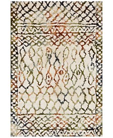 "Justina Blakeney Folklore FW-02 Ivory/Jade 5' x 7'6"" Area Rug"